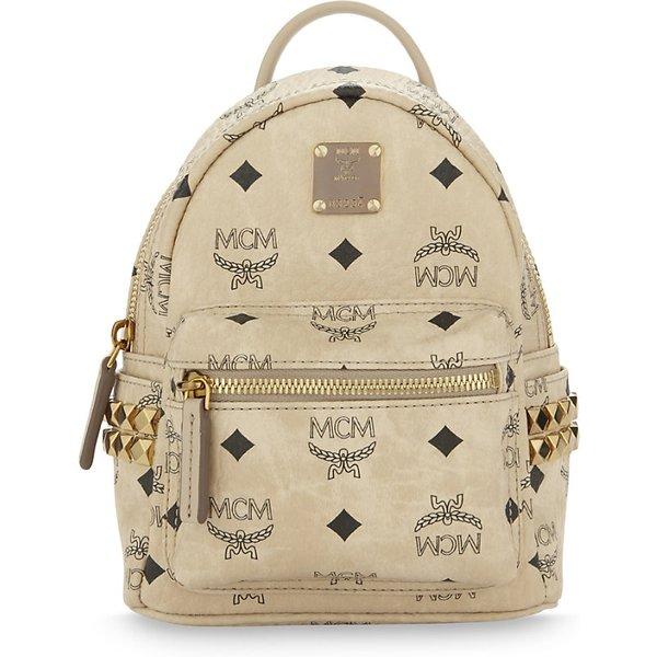 Mcm Stark stud detail extra-mini backpack 1c7b1c7f9b70a