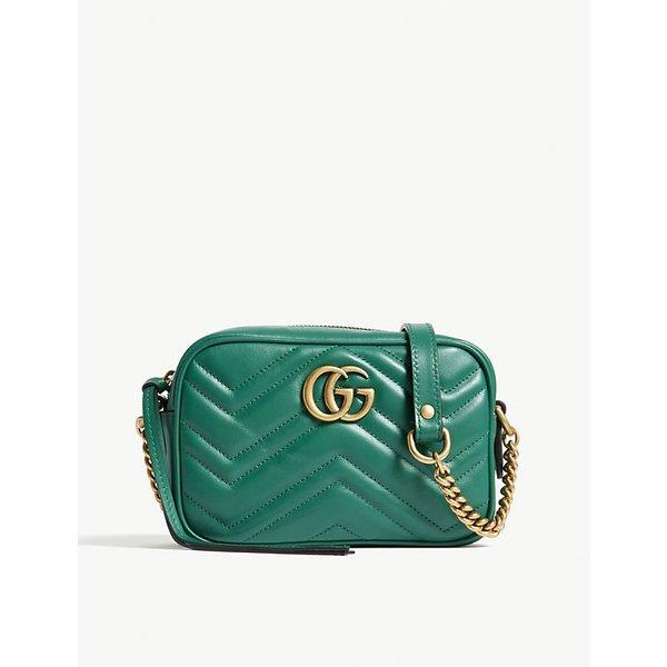 68aac655f687a3 GUCCI | GG Marmont mini leather camera cross-body bag | Goxip