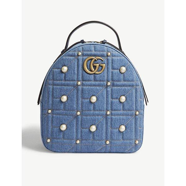5c007405c0cb GUCCI | GG Marmont denim backpack | Goxip