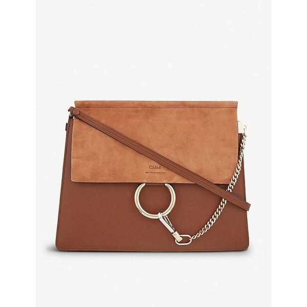 ba39bd2dd0 Chloe Faye medium leather satchel Medium, Tobacco