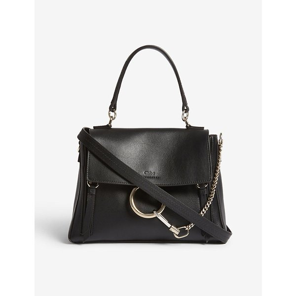 CHLOE | Faye Day small grained leather shoulder bag | Goxip