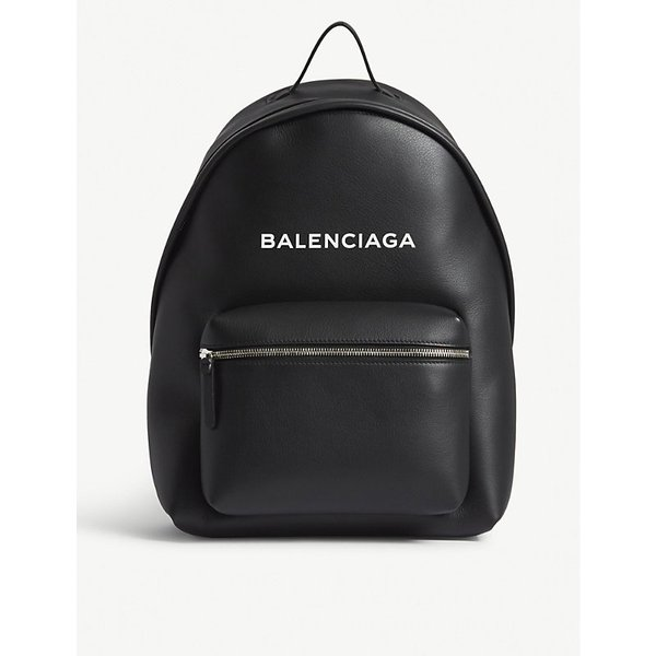 BALENCIAGA | Logo leather backpack | Goxip