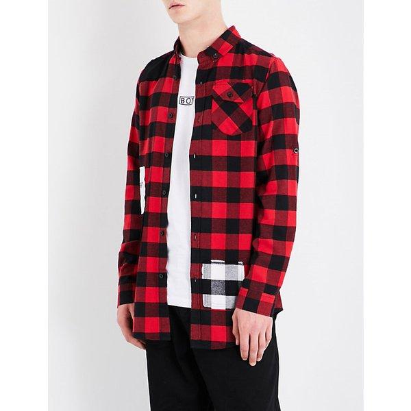 BOY LONDON   1976 checked regular-fit cotton-flannel shirt   Goxip