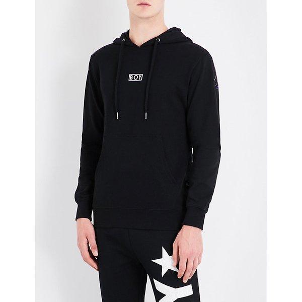 BOY LONDON   Eagle-print cotton-jersey hoody   Goxip