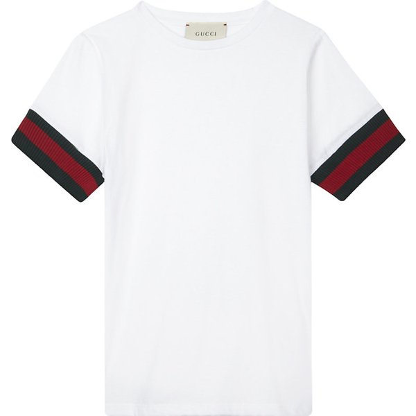 7eb390633 GUCCI | Web stripe cotton T-shirt 4-12 years | Goxip