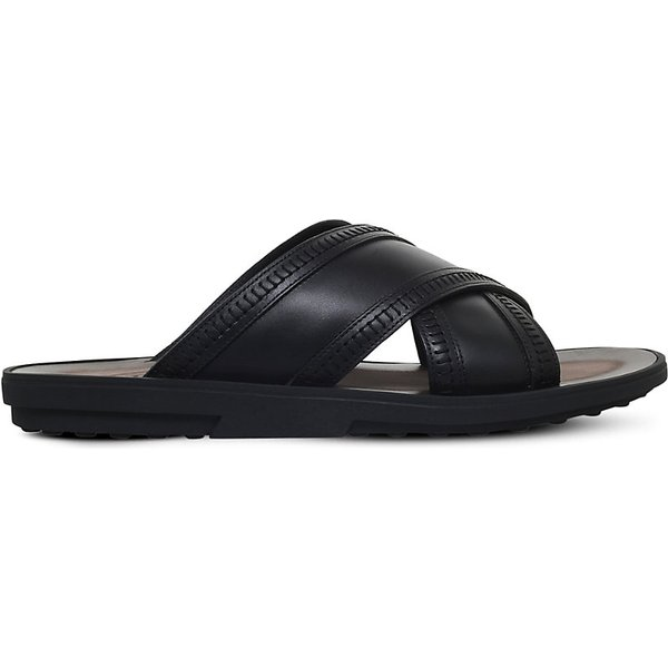 6a0fddf1f82f4 TOD S Tods Cross leather sandals