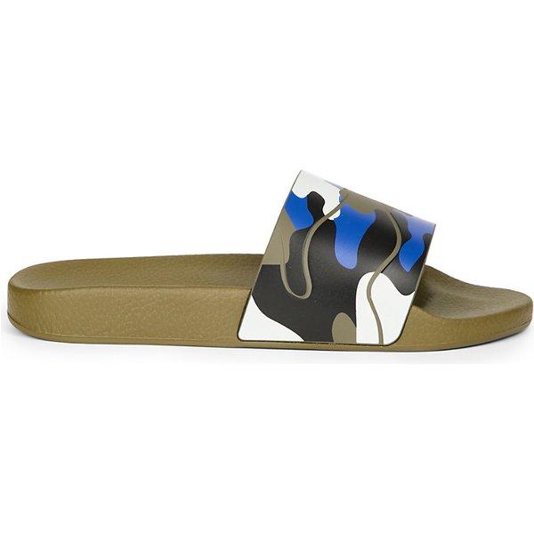 b36905cc78531 Valentino Camo-print rubber slider sandals