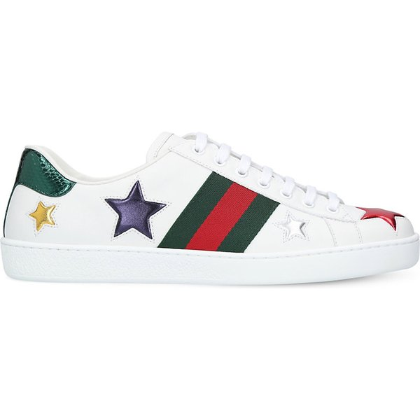 3f2505d40 Gucci New Ace star-detail leather trainers
