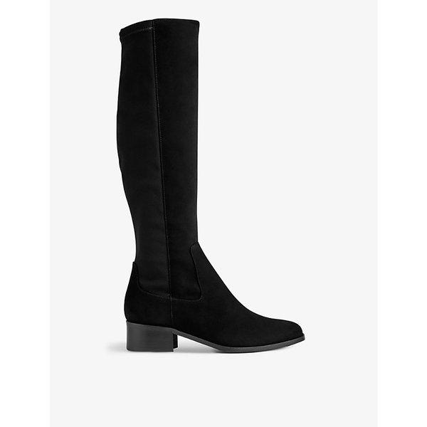 LK BENNETT | Bella stretch suede knee boots | Goxip
