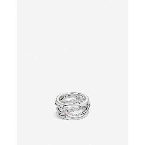 BUCHERER JEWELLERY | Vivelle 18ct white-gold and diamond ring | Goxip