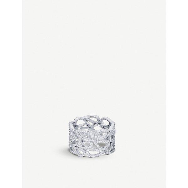 BUCHERER JEWELLERY | Lacrima 18ct white-gold diamond ring | Goxip