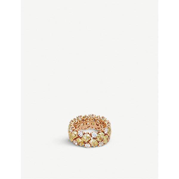 BUCHERER JEWELLERY | Classics 18ct rose-gold, diamond and gemstone ring | Goxip