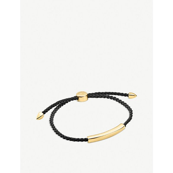 MONICA VINADER | Linear 18ct gold-plated friendship bracelet | Goxip