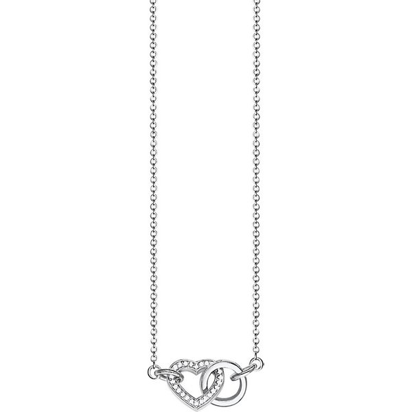 THOMAS SABO | Together heart small sterling silver and crystal necklace | Goxip