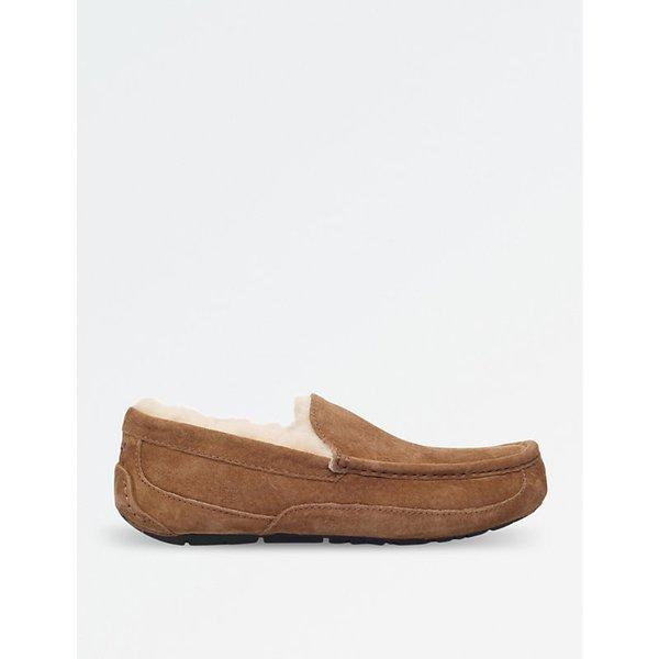 838adf7cbb9 UGG Men's Scuff Suede Sheepskin Slippers - Chestnut - UK 9 - Tan