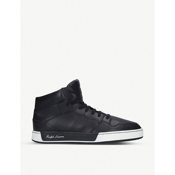 finest selection 863b6 56bae RALPH LAUREN PURPLE LABEL  Giancarlo high-top leather trainers  Goxip
