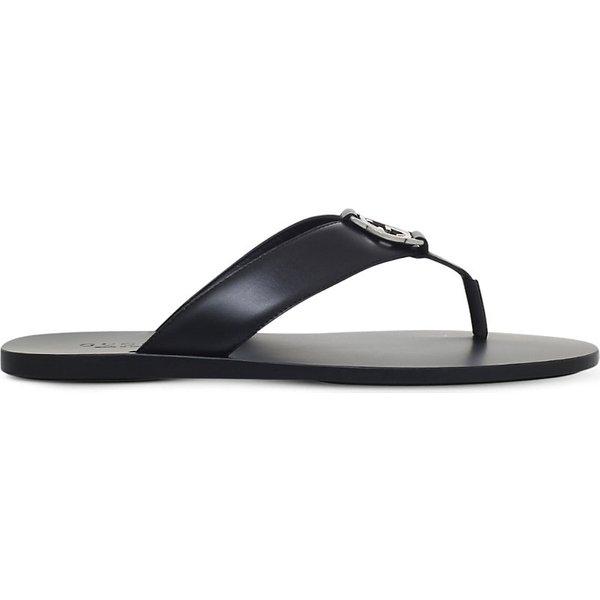 eab13e97da8f Gucci Leather logo sandals