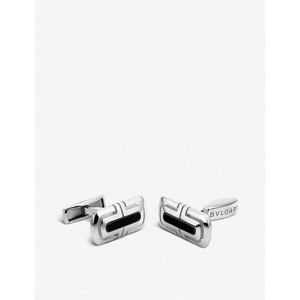 BVLGARI | Bvlgari Parentesi sterling silver and black onyx cufflinks, Mens, silver | Goxip
