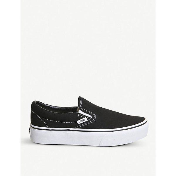 37aa019c0fd352 VANS Classic canvas platform slip-on trainers