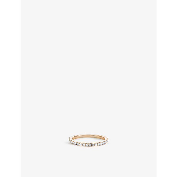 6101e3bebd08 DE BEERS Classic half band yellow gold and diamond eternity ring