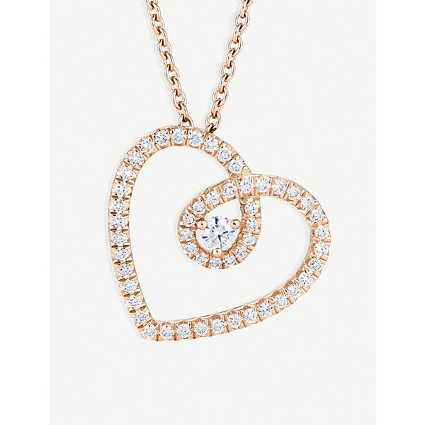 DE BEERS | De Beers Heart pink gold and diamond pendant, pink | Goxip