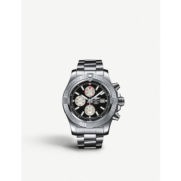 BREITLING | A1337111/C871 168A Super Avenger II stainless steel automatic chronograph watch | Goxip