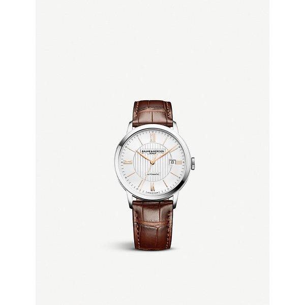 BAUME & MERCIER   Baume & Mercier 10263 Classima alligator-leather watch, Mens   Goxip