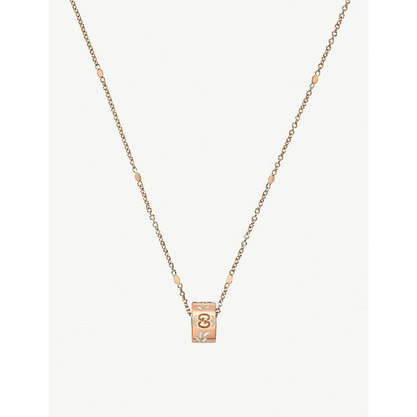 7cef50f3d GUCCI | Gucci Icon blossom 18ct rose gold necklace Large, lobster | Goxip
