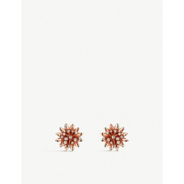 GUCCI | Gucci Flora 18ct pink gold earrings, pink | Goxip