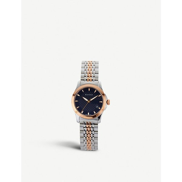 8aee468c138 Gucci YA126512 G-Timeless Collection bi-colour stainless steel and ...