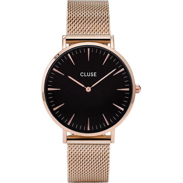 CLUSE | Cluse CL18113 La Bohème rose gold and stainless steel mesh watch | Goxip
