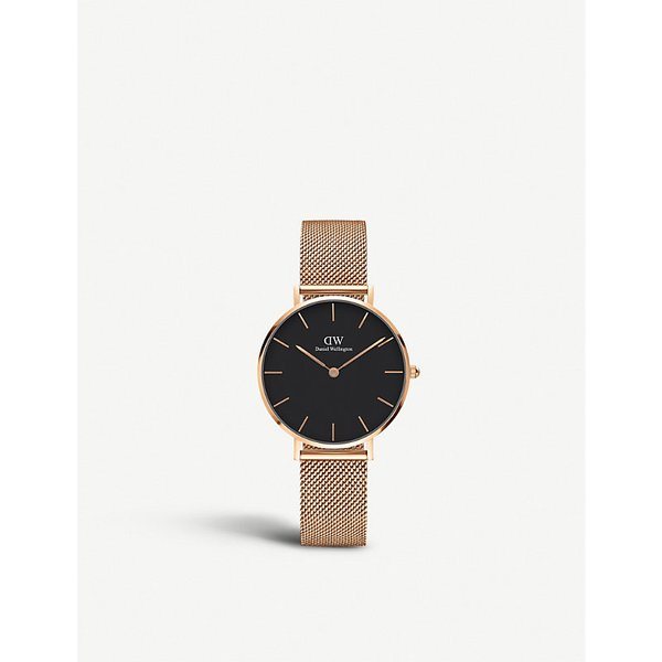 DANIEL WELLINGTON | Daniel Wellington Classic Petite Melrose rose gold-plated watch | Goxip