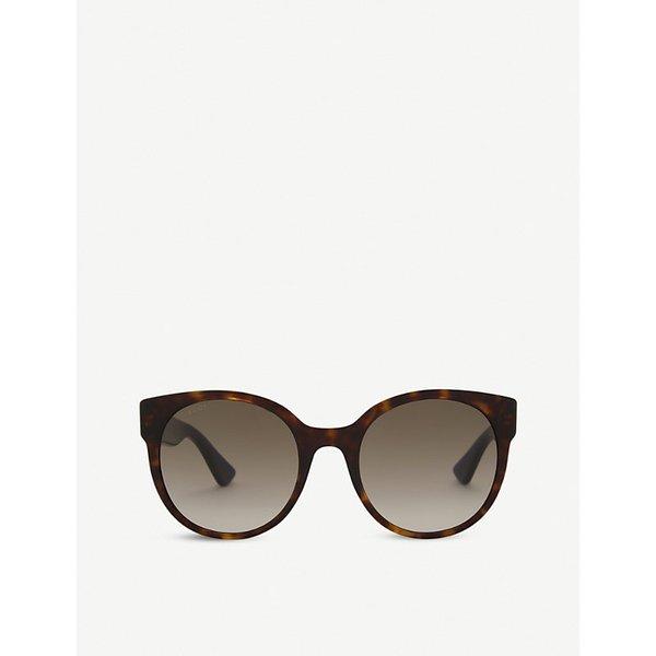 GUCCI | Gg0035s round-frame sunglasses | Goxip