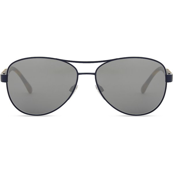 58f51a8a4774f Burberry Ladies Matte Blue Check Modern Be3080 Aviator Sunglasses ...