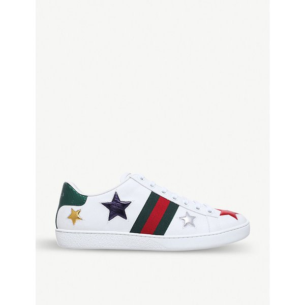 5ed61fd9113 GUCCI New Ace lips-embellished leather trainers