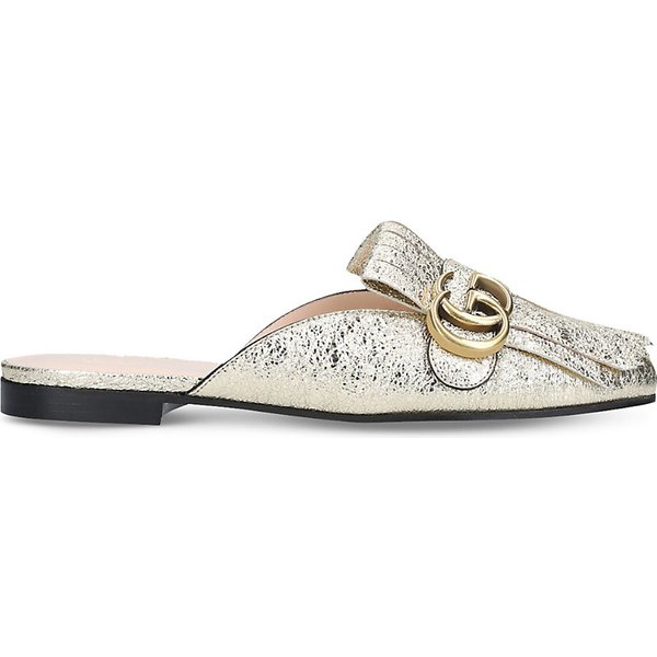 b85808fb5929 GUCCI Marmont leather slippers