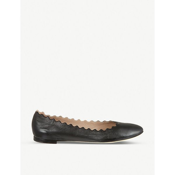 CHLOE | Chloe Scallop leather ballet flats | Goxip