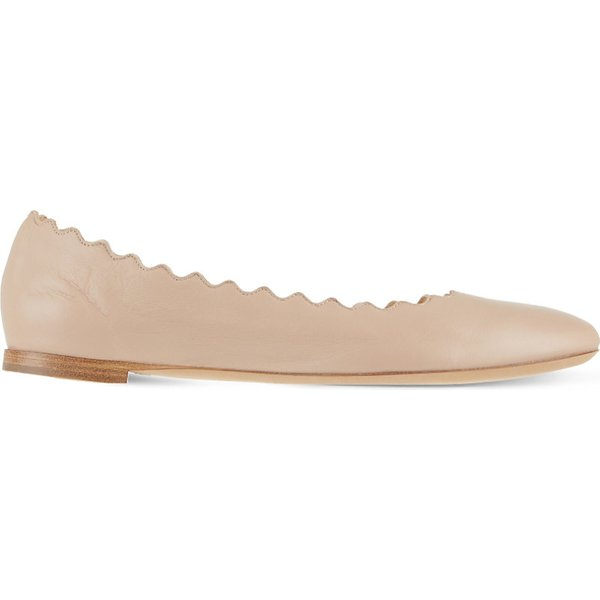 CHLOE | Scallop leather ballet flats | Goxip