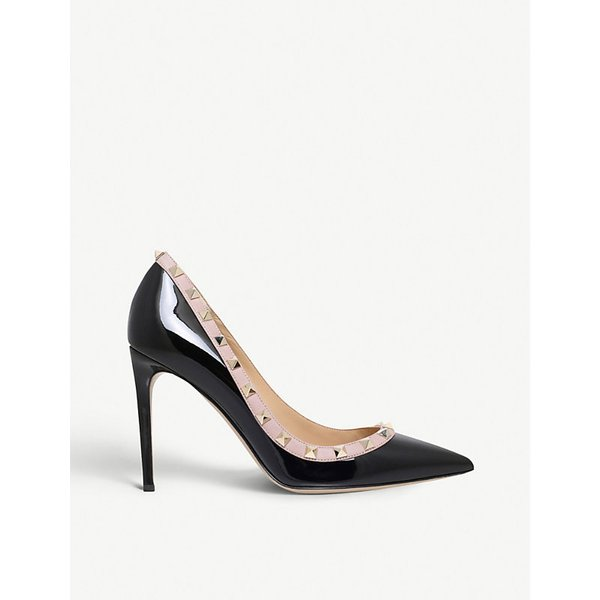 VALENTINO | Valentino Rockstud 100 patent-leather courts | Goxip