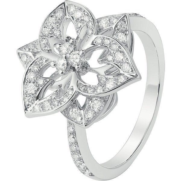 BOUCHERON | Boucheron Pensée de Diamants 18ct white-gold small ring | Goxip