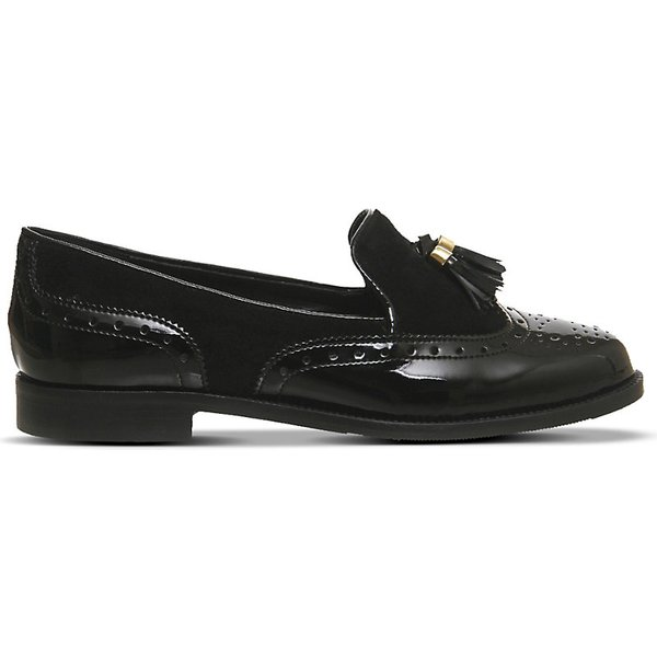 a843c2c1 OFFICE | Office Ringo leather and suede tassel loafers EUR 37 / 4 UK, Black