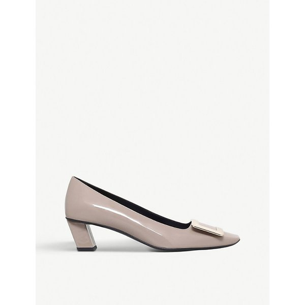 ROGER VIVIER | Roger Vivier Belle Vivier patent-leather court shoes | Goxip