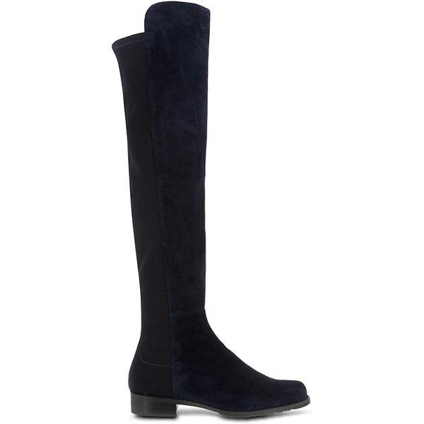 STUART WEITZMAN | Stuart Weitzman 50/50 knee-high suede boots | Goxip
