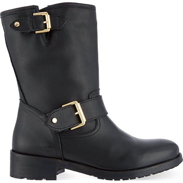 9f607e9024e UGG Women's Jenise Waterproof Leather Biker Boots - Stout - UK 3.5 - Brown