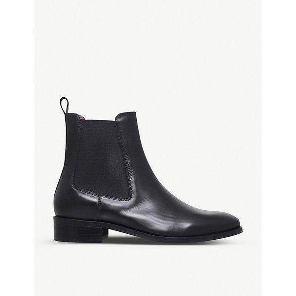KURT GEIGER LONDON   Kurt Geiger London Ladies Black Dalby Leather Ankle Boots   Goxip