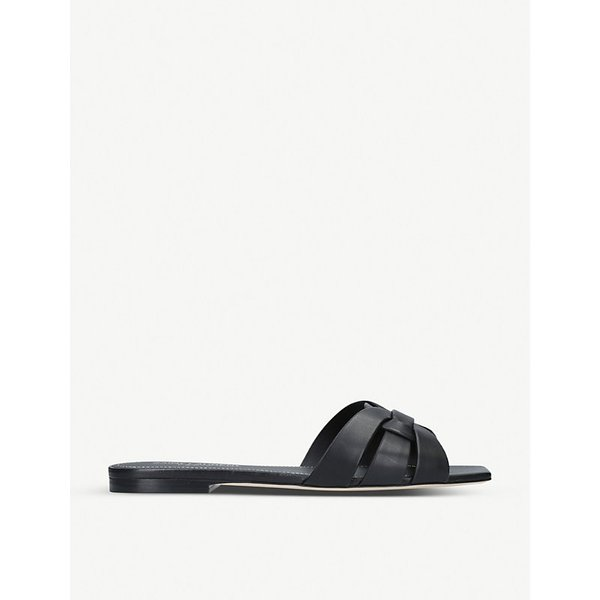 SAINT LAURENT | Nu Pieds 05 leather sandals | Goxip