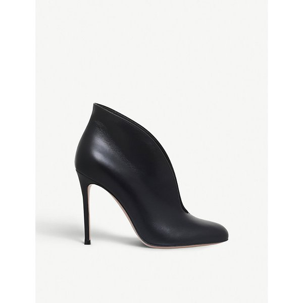 GIANVITO ROSSI | Vamp leather booties | Goxip