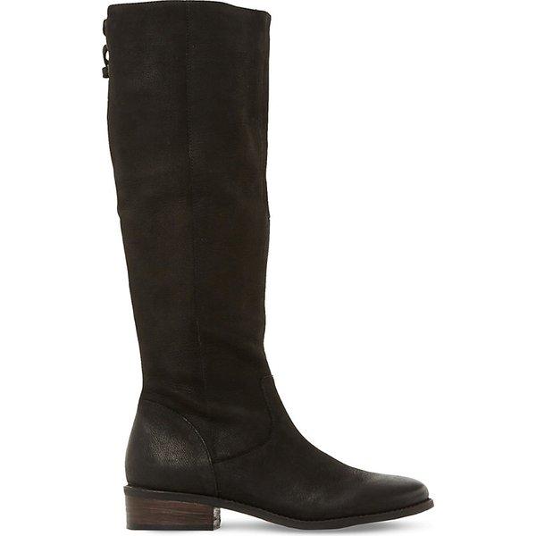STEVE MADDEN | Steve Madden Ladies Black Contrast Practical Jollie Leather Knee High Boots | Goxip