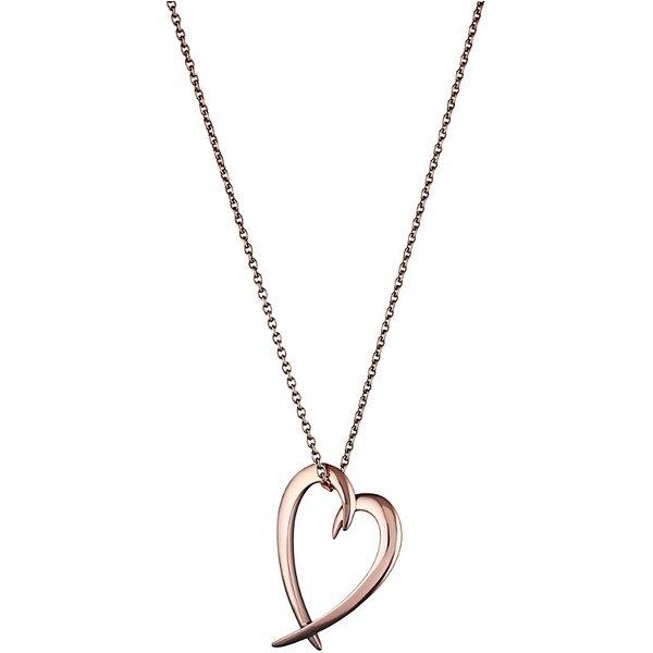 SHAUN LEANE   Shaun Leane Signature rose-gold vermeil heart pendant   Goxip