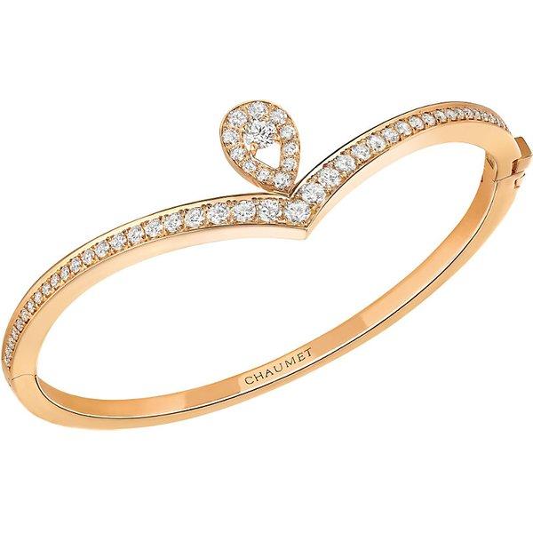 CHAUMET   Chaumet Joséphine 18ct pink-gold and diamond bracelet, pink   Goxip